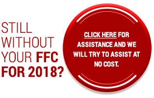 Still without your FFC for 2018?