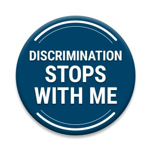 Discrimination Stops With Me Logo